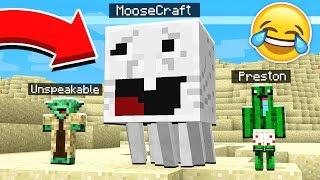 IMPOSSIBLE TRY NOT TO LAUGH CHALLENGE! - Minecraft Mods PrestonPlayz