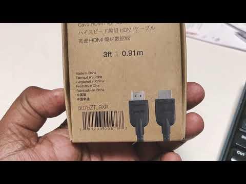 Unboxing AmazoneBasics Braided HDMI cable 3feet
