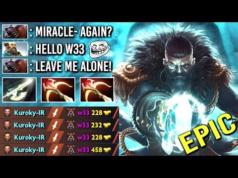 EPIC Miracle- Kunkka Counter w33 Ursa Mid with Halberd Crazy Pro Gameplay WTF Dota 2