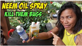 BEST ORGANIC PESTICIDE NEEM OIL SPRAY TO KILL  aphids, white flies, rose slugs and mites.
