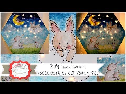 Kinderlampe selber bauen - Kinderzimmerdeko - beleuchtetes Bild DIY - Stampin´Up! - Babyzimmerdeko