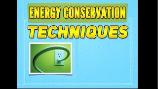 Energy Conservation Techniques: Off Peak Electricity Bill Charges