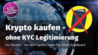 BTC mit kreditkarte kaufen ohne Verifizierung