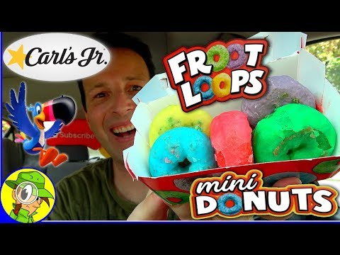 Carl's Jr ® | Froot Loops® mini Donuts | Food Review