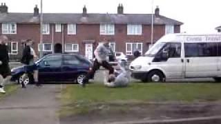caveman andspotty fightin