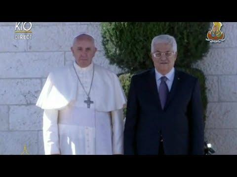 Cérémonie d'accueil et visite de courtoisie au Président de Palestine