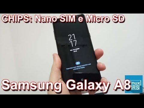samsung galaxy a8 chips nano sim e micro sd