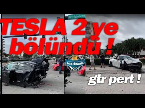 GTR and Tesla Car crush