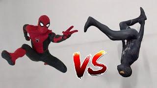 Spiderman vs Black Spiderman (Venom) In Real Life | Parkour vs Tricking