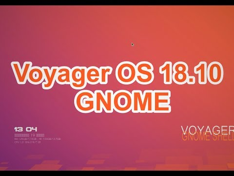 Voyager OS 18.10 GE (Gnome) - Обзор