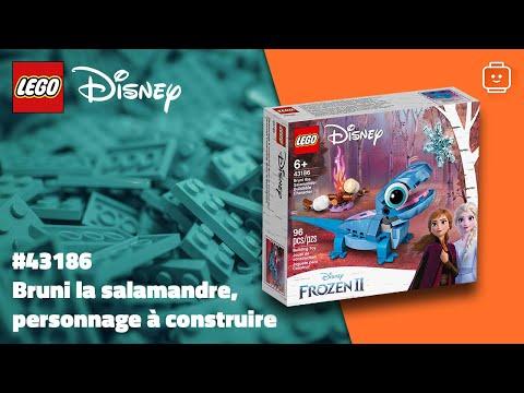 Vidéo LEGO Disney 43186 : Bruni la salamandre, personnage à construire