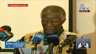AU observer team share their preliminary report on Kenya's election