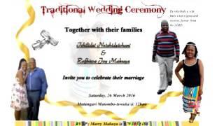 Wedding of Rofhiwa & tshilidzi