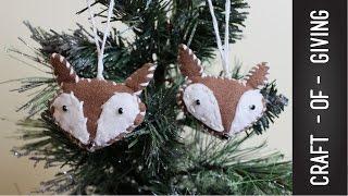 DIY Felt Fox Christmas Ornament  | Craft Of Giving