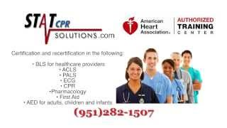 CPR, BLS, ACLS, Pharmacology Certification in Temecula & Surrounding Area | StatCPRSolutions.com |