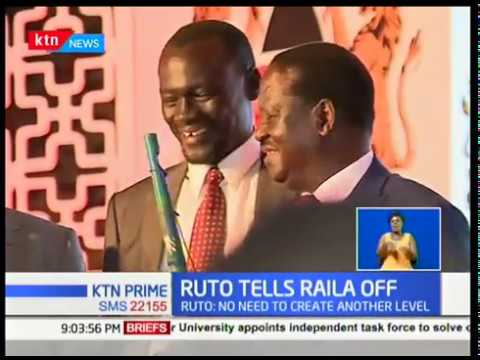 William Ruto dismisses Raila Odinga on devolution,saying no need for another level