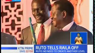 William Ruto dismisses Raila Odinga on devolution,saying no need for another level