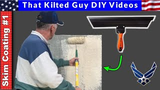 👉 How to Skim Coat Walls, the EASY way, with a Magic Trowel and a paint roller. #1 in the series