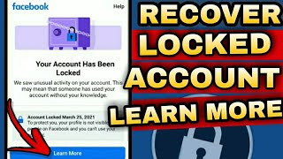 FACEBOOK LOCKED 2021 | LEARN MORE | HOW TO RECOVER LOCKED FACEBOOK ACCOUNT?