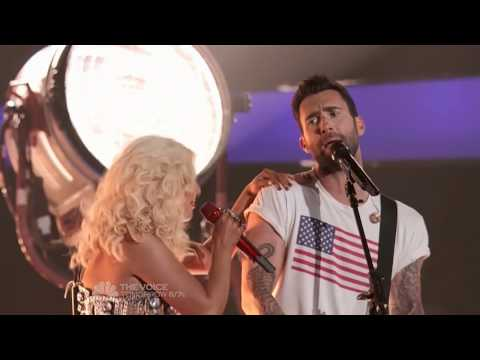 The Voice Coaches Performing Start Me Up - Christina Aguilera, Adam Levine , Cee Lo & Blake Shelton.