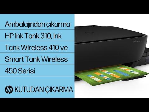 HP Ink Tank 310, Ink Tank Wireless 410 ve Smart Tank Wireless 450 serisini ambalajından çıkarma