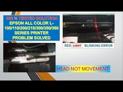 Download Epson Printer Red Light Error Solution Epson L380