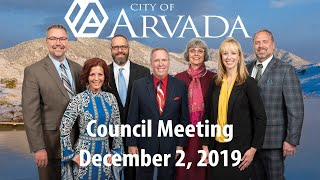 Preview image of Arvada City Council - December 2, 2019