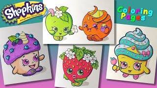 Shopkins characters #ColoringPages #forKids #LearnColors and Draw with Shopkins