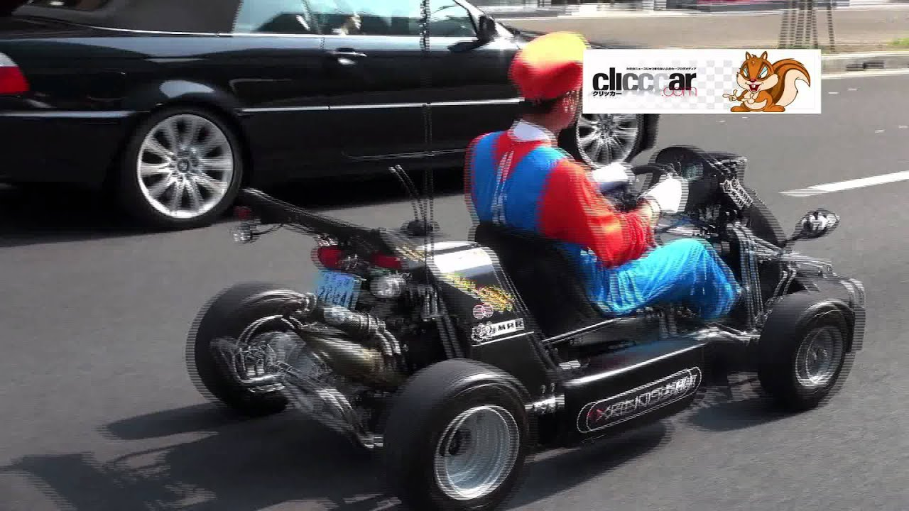 Real Mario Kart On The Streets Of Tokyo, Drawing Huge Crowds