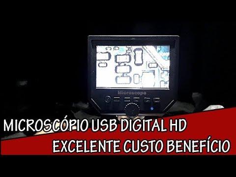 Review Unboxing Microscópio de Bancada Digital