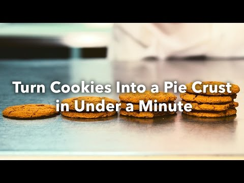 Turn Cookies Into An Awesome Pie Crust In 60 Seconds