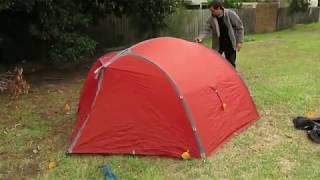 Setting up Exped Venus II , 2 Person, 4 Season tent