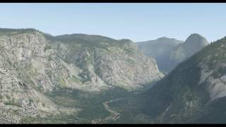 Flying down Yosemite Valley in a helicopter