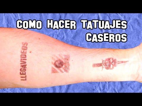 Cómo Hacer Tatuajes Caseros Temporales Experimentos Caseros