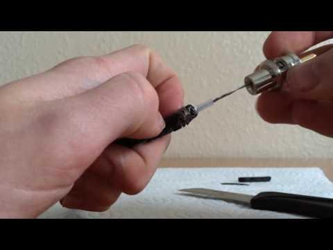 RG58 Kabel mit PL Stecker konfektionieren ohne Lötkolben