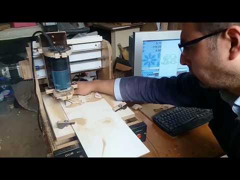 Ev yapımı  Arduino CNC Router    Cnc Shield  Estlcam