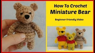 How To Crochet A Minature Bear Part 1 Of 2