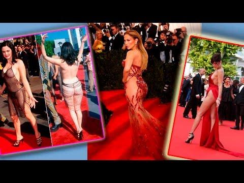 Топ Самых сексуальных платьев звёзд в 2016 году. Голые платья на красной дорожке