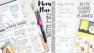 Meal Plan With Me! | Classic Size Happy Planner | At Home With Quita