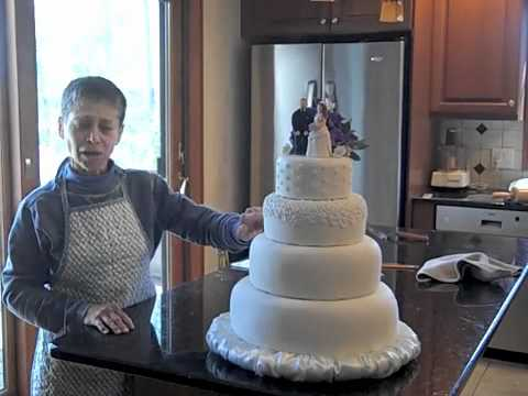 Making a Wedding Cake, Part 3: Covering and Decorating
