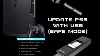 How to Update PS3 with USB (Safe Mode)