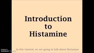 Immune System - Histamine