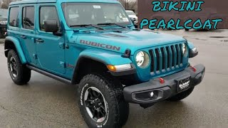 ALL NEW 2020 JEEP WRANGLER JL 4 DOOR UNLIMITED RUBICON BIKINI BLUE LED WALK AROUND REVIEW SUMMITAUTO