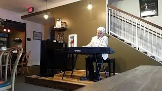 Bobby Nelson on the Casio Keys at Raue Cafe sponsored by Piano Trends
