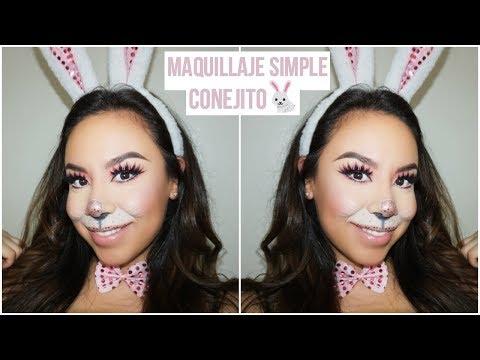 Maquillaje Simple Conejito   Último Minuto Halloween Look