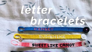 Name/letter Friendship Bracelet Tutorial! (advanced)