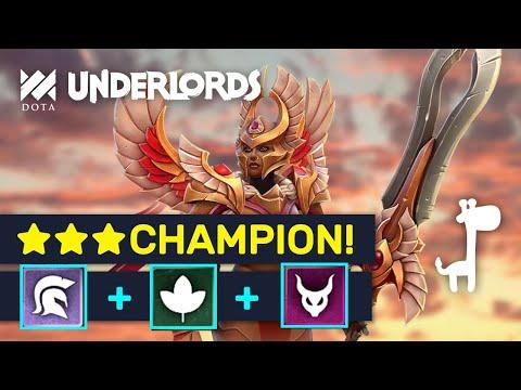★★★ LEGION COMMANDER! Knockout: Champion Druids Starter! | Dota Underlords