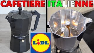 CAFETIÈRE ITALIENNE LIDL + Moulin à Café électrique Silvercrest Ernesto