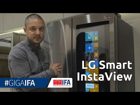 LG Smart InstaView: Kühlschrank mit Windows 10 & Touchscreen - IFA 2016 - GIGA.DE
