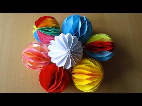DIY: Deko-Kugel aus Papier / Decoration ball paper